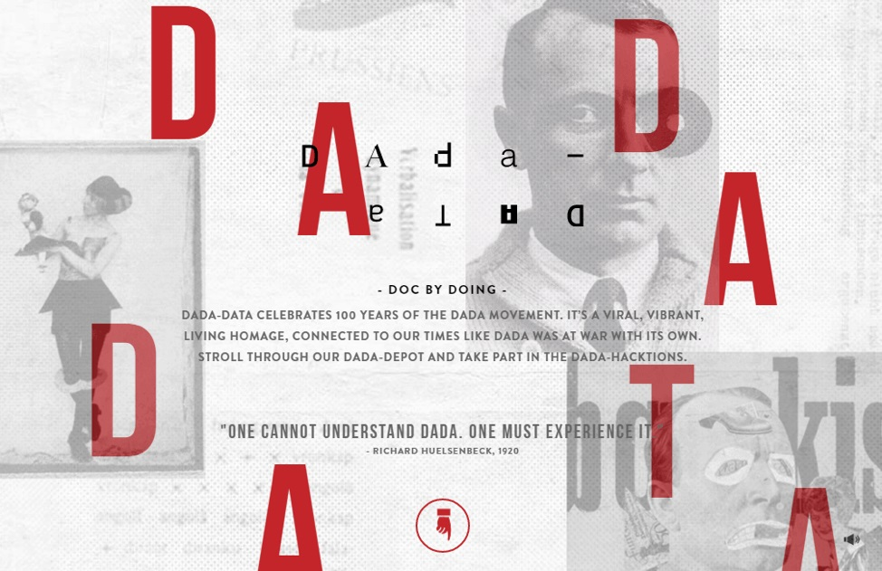 Dada Data - Goed voorbeeld van asymmetrische website