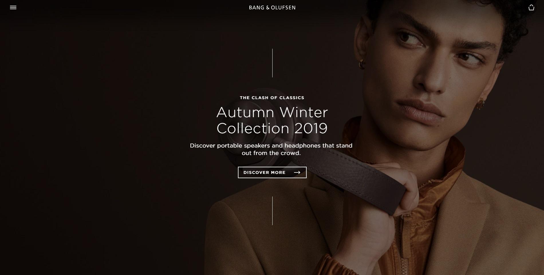 Bang en Olufsen heeft een site die even stijlvol is als hun producten