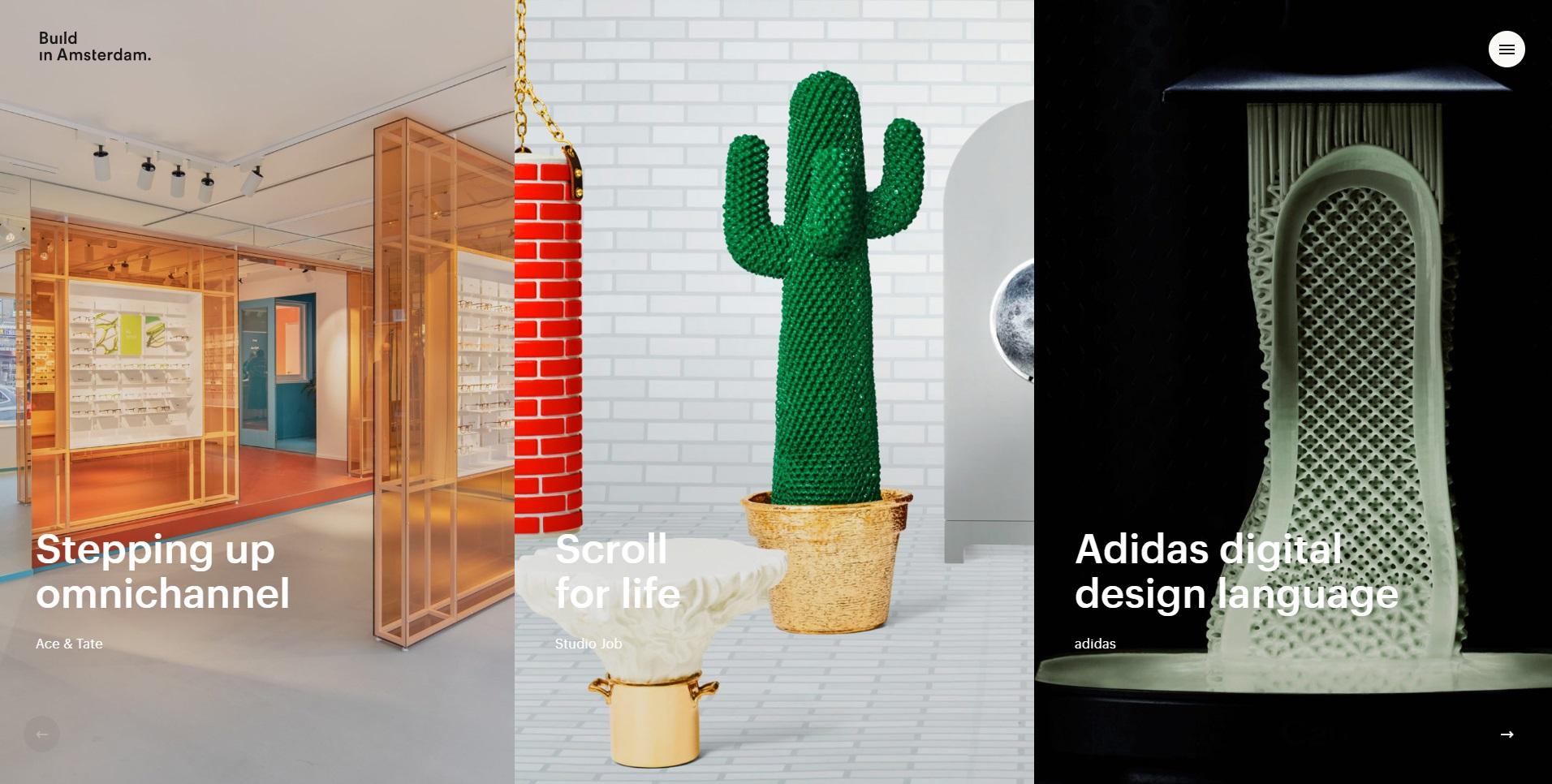 Screenshot van de site van webdesignbureau Build in Amsterdam