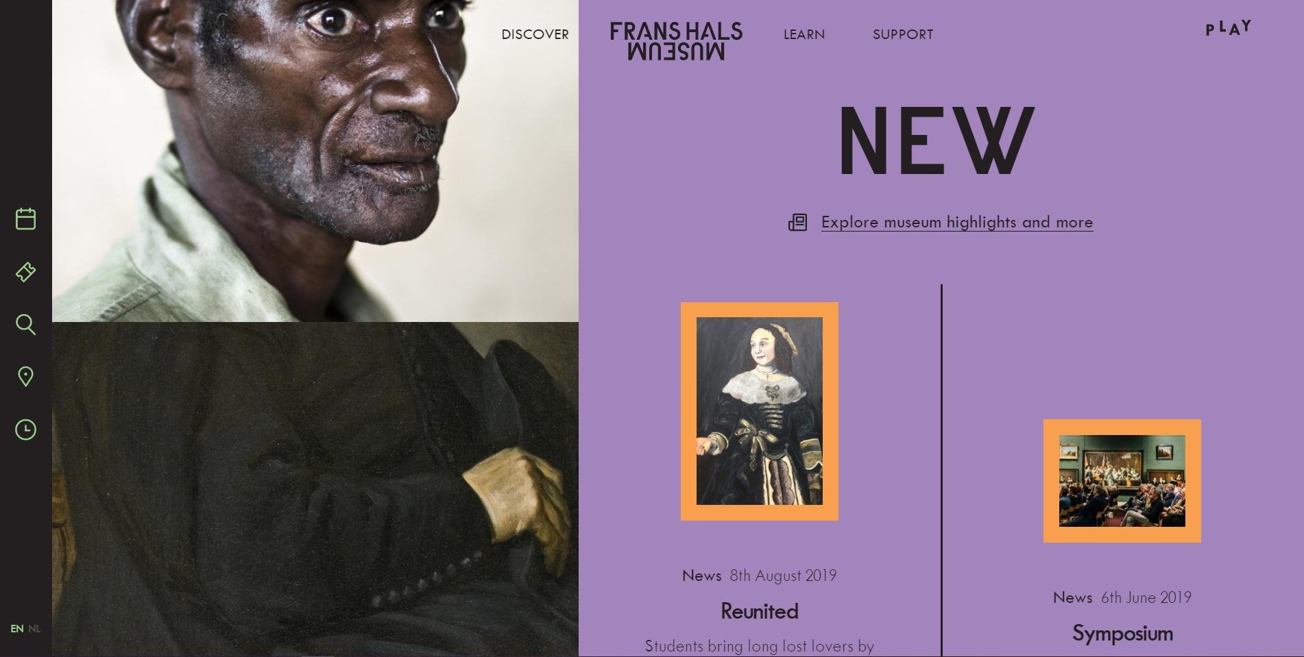 Mooie website van het Frans Hals Museum