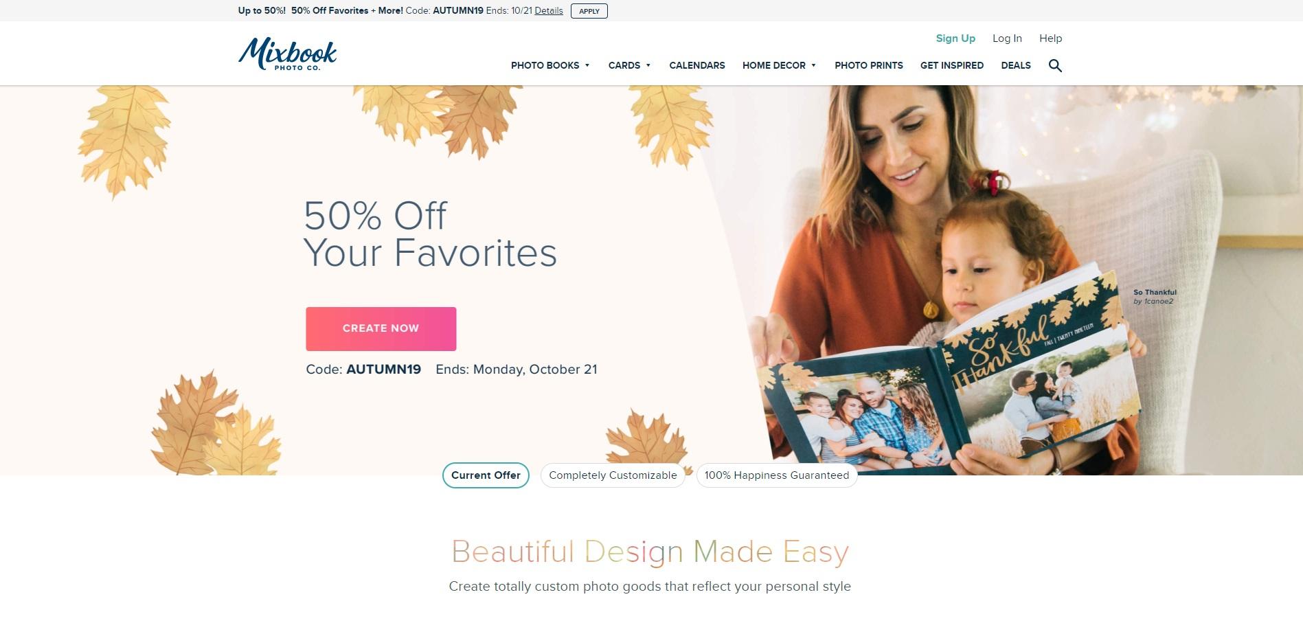 Mixbook is een familievriendelijke fotoboeksite