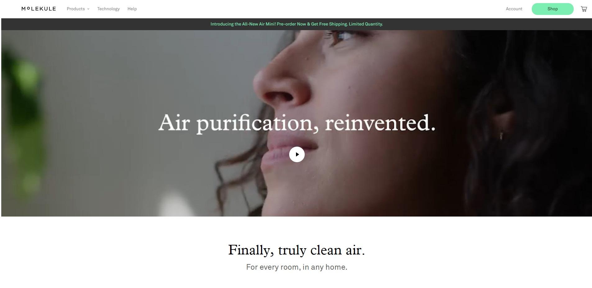 Mooie website van Molekule