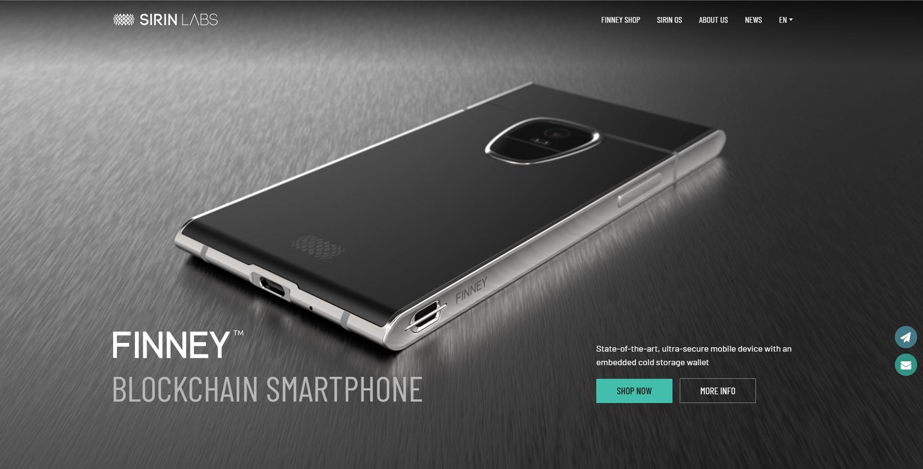 Sirin Labs heeft een prachtige website