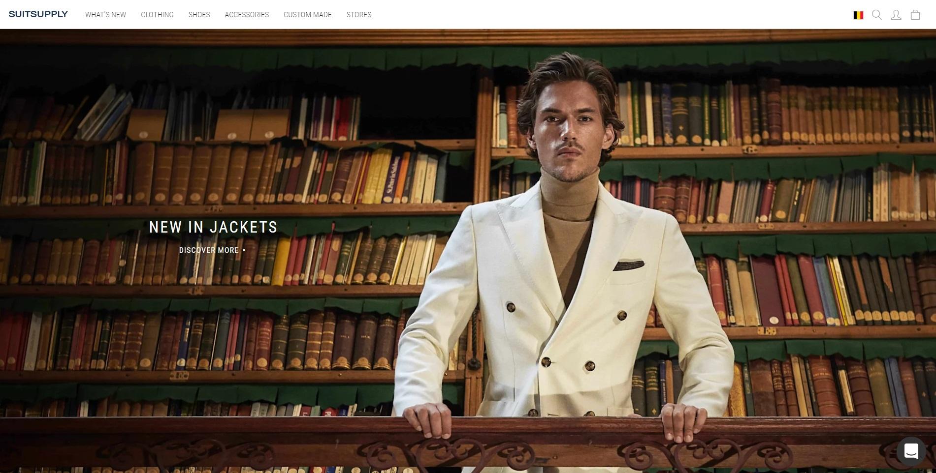 Elegante website van Suitesupply