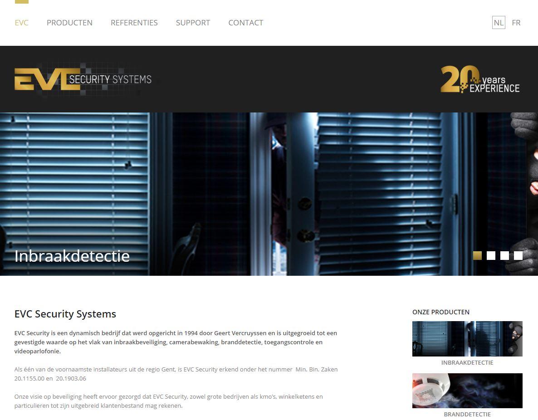 EVC Gent homepage voor vernieuwing website