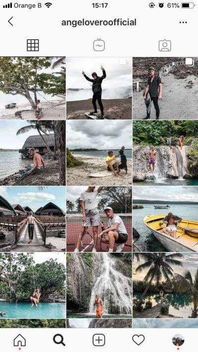 Instagram feed Angelo