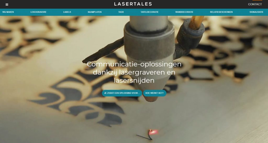 Grafisch ontwerp voor Laser Tales
