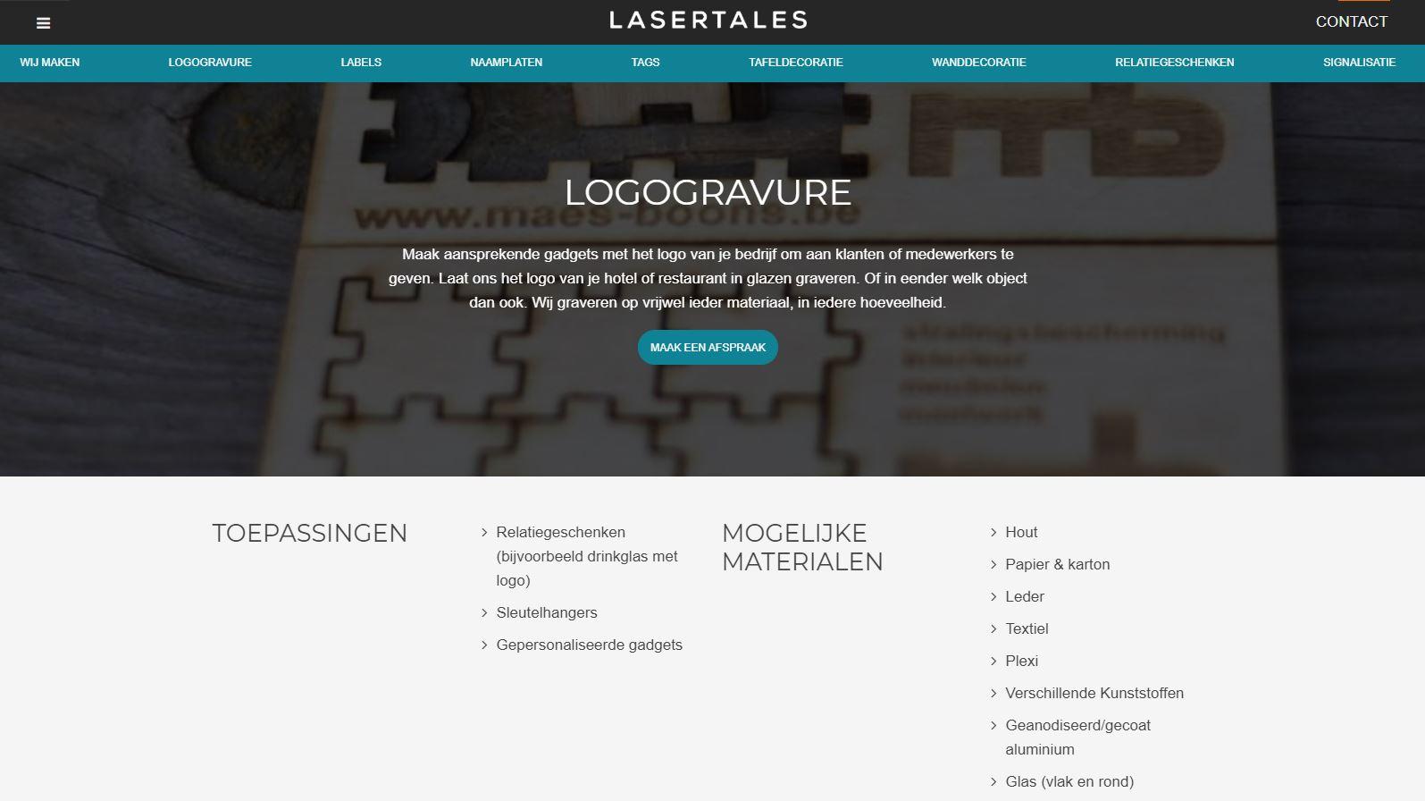 Specialist in lasersnijden en lasergraveren Antwerpen