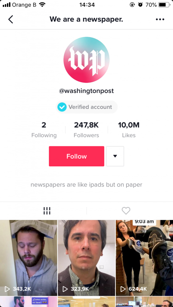 tiktok feed washington post