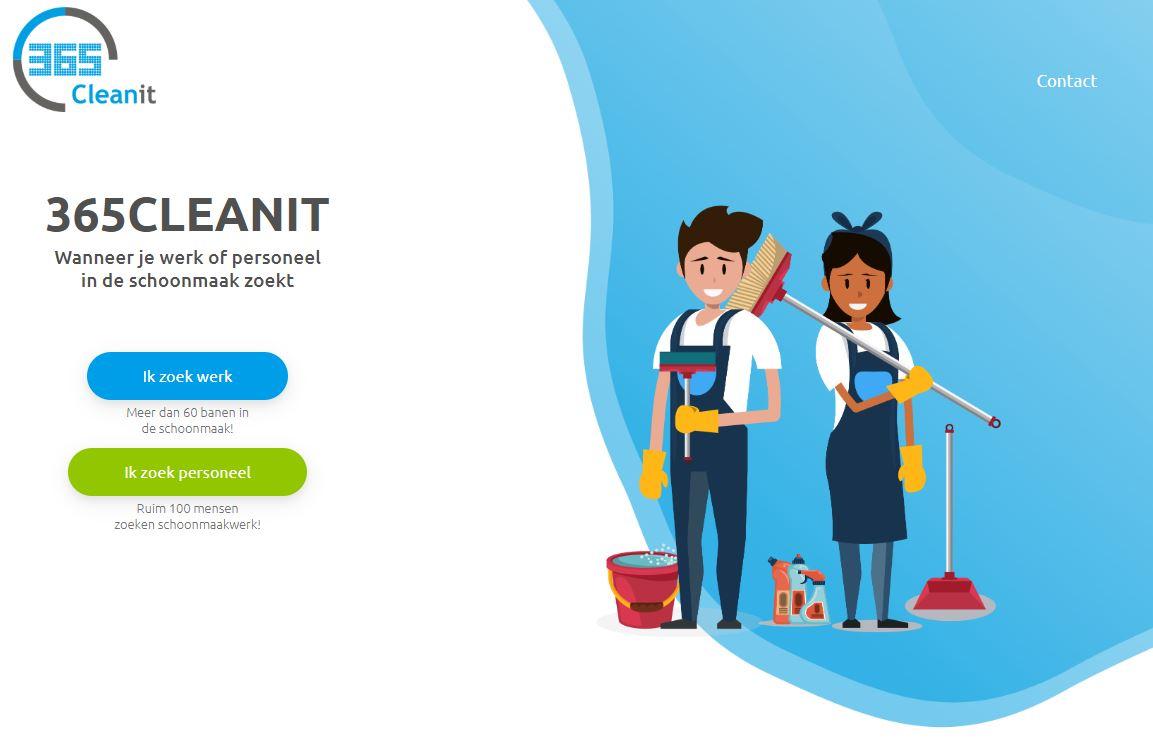 Website voor schoonmaakbedrijf