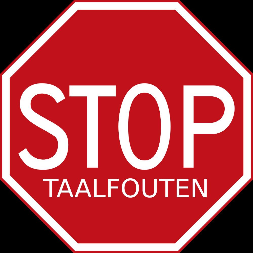 Stop taalfouten