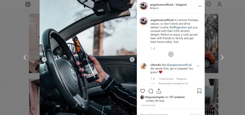 collaboratie kerstmis affligem bier post instagram