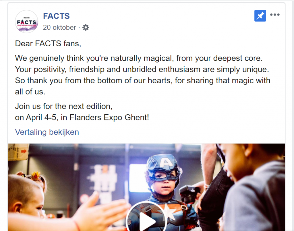 facts klanten bedanken facebook