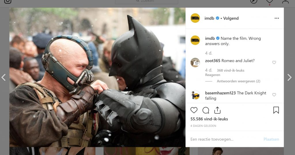 imdb the dark knight rises instagram