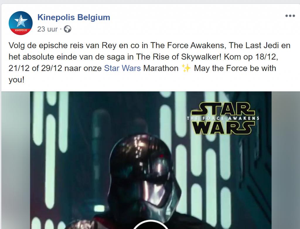 kinepolis star wars marathon facebook