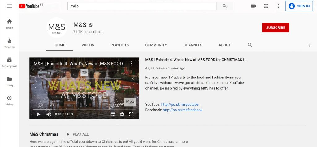 m&s kerstvideo youtube