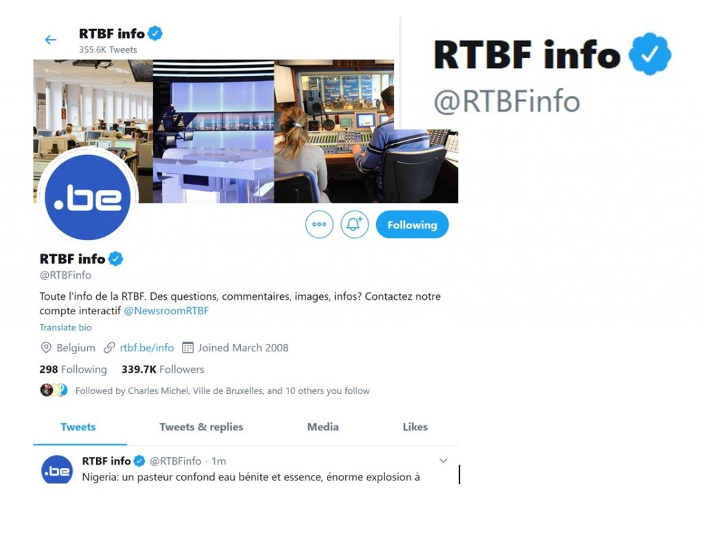 rtbf twitter blue mark