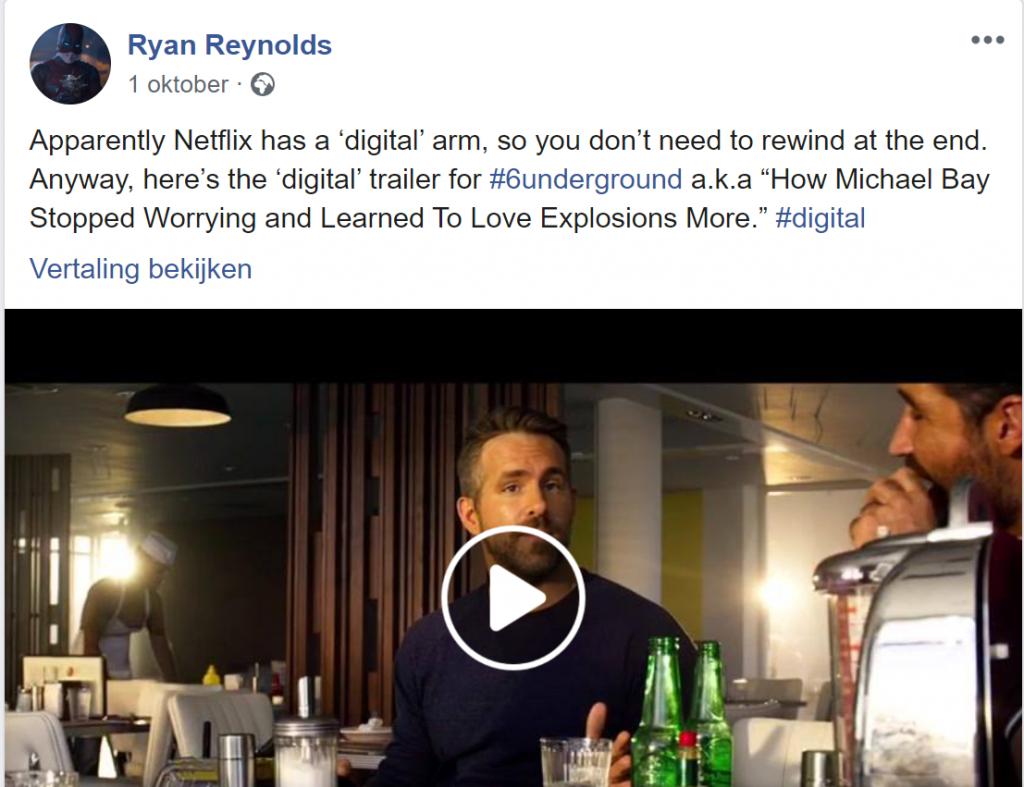 ryan reynolds 6underground bericht facebook