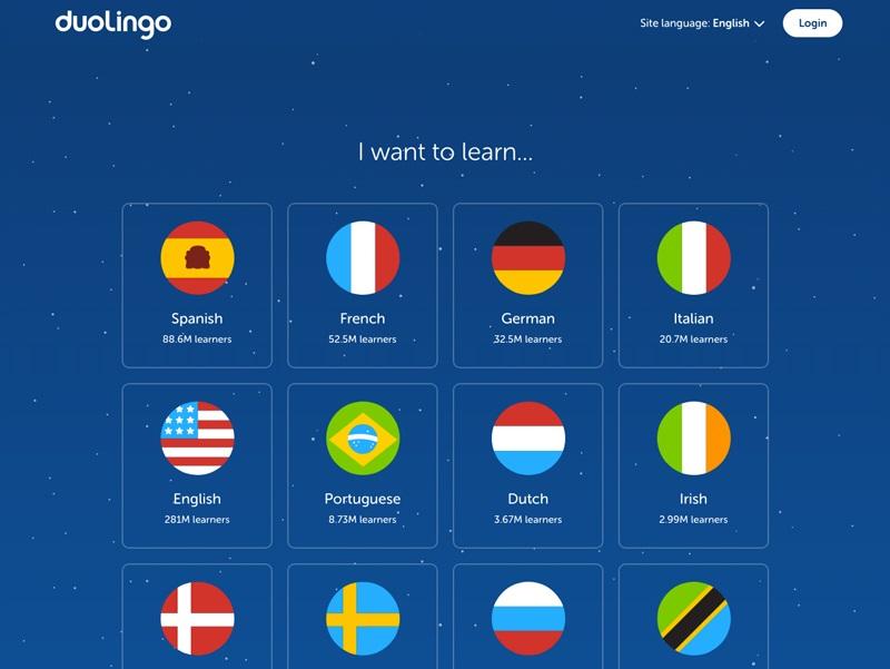 Goed UX-design voorbeeld is Duolingo