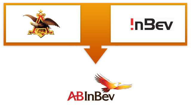 Logo na fusie Anheuser-Busch en InBev
