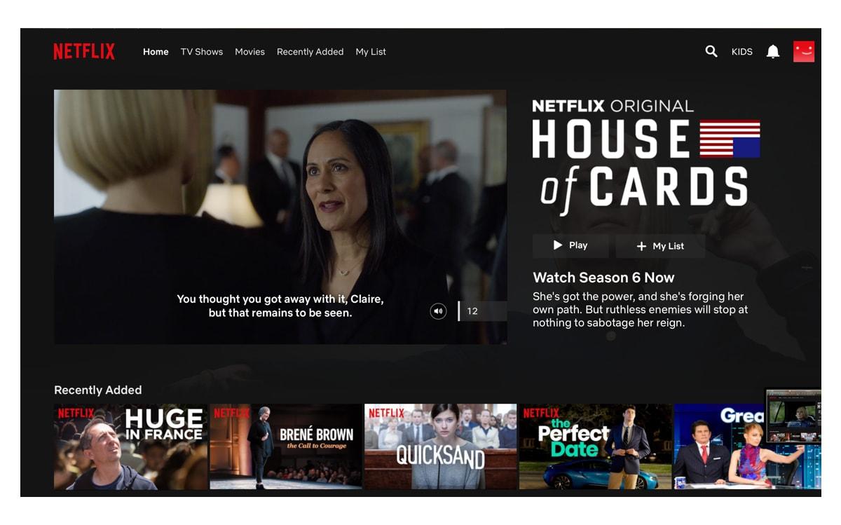 Slecht UX-design voorbeeld - autoplay van Netflix