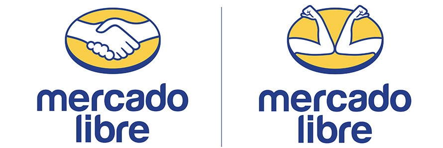 Mercado Libre social distancing logo's