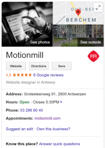 Google Mijn Bedrijf online marketing