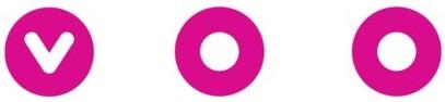 Social distancing logo van telecommunicatieprovider Voo