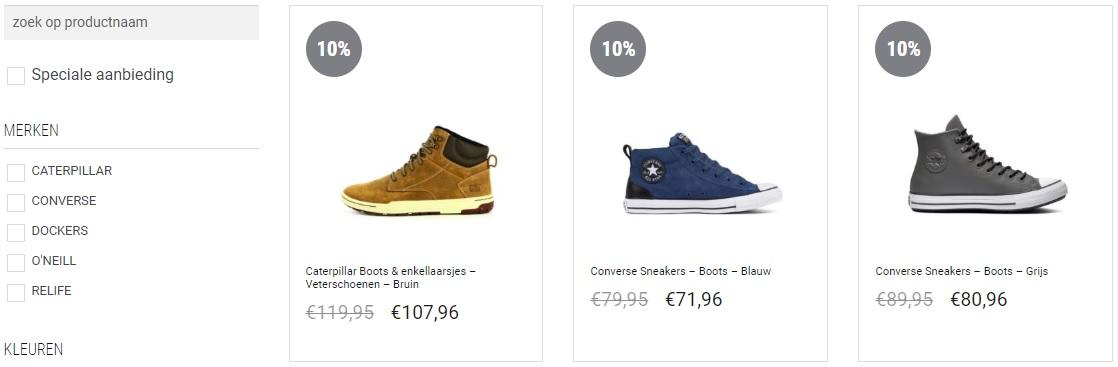 Webshop van schoenenwinkel Pronti