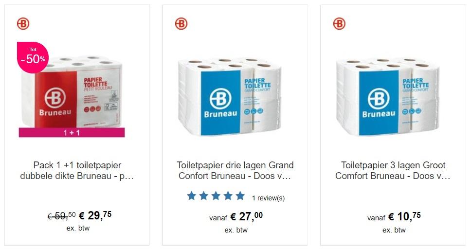 Webshop met wc-papier