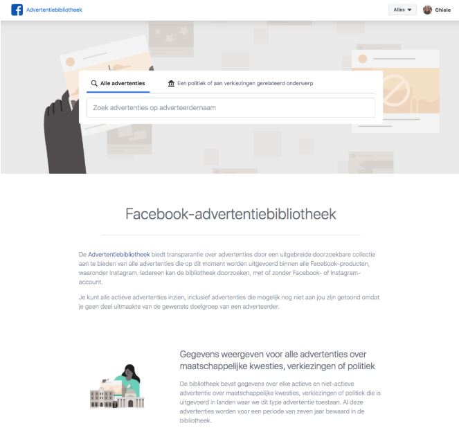 Wat is de Facebook-advertentiebibliotheek