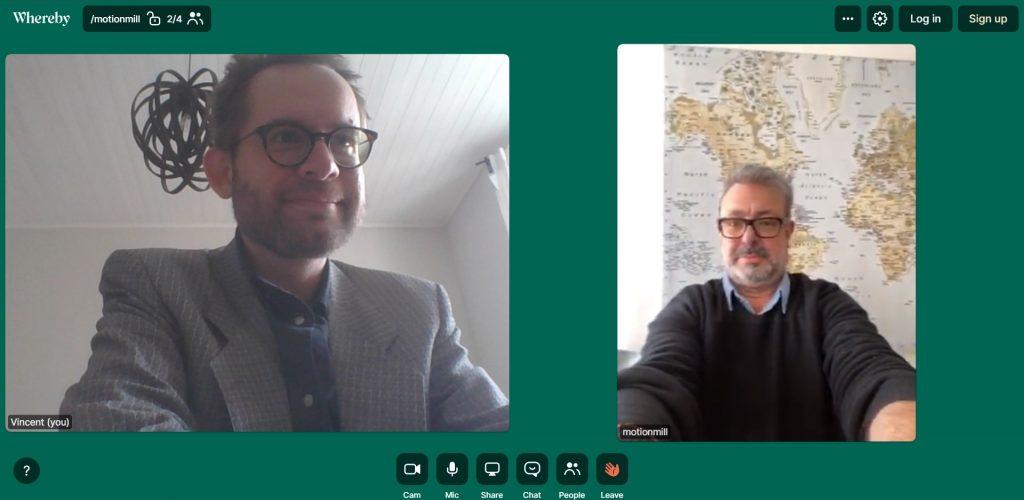 Online vergadering op Whereby.com