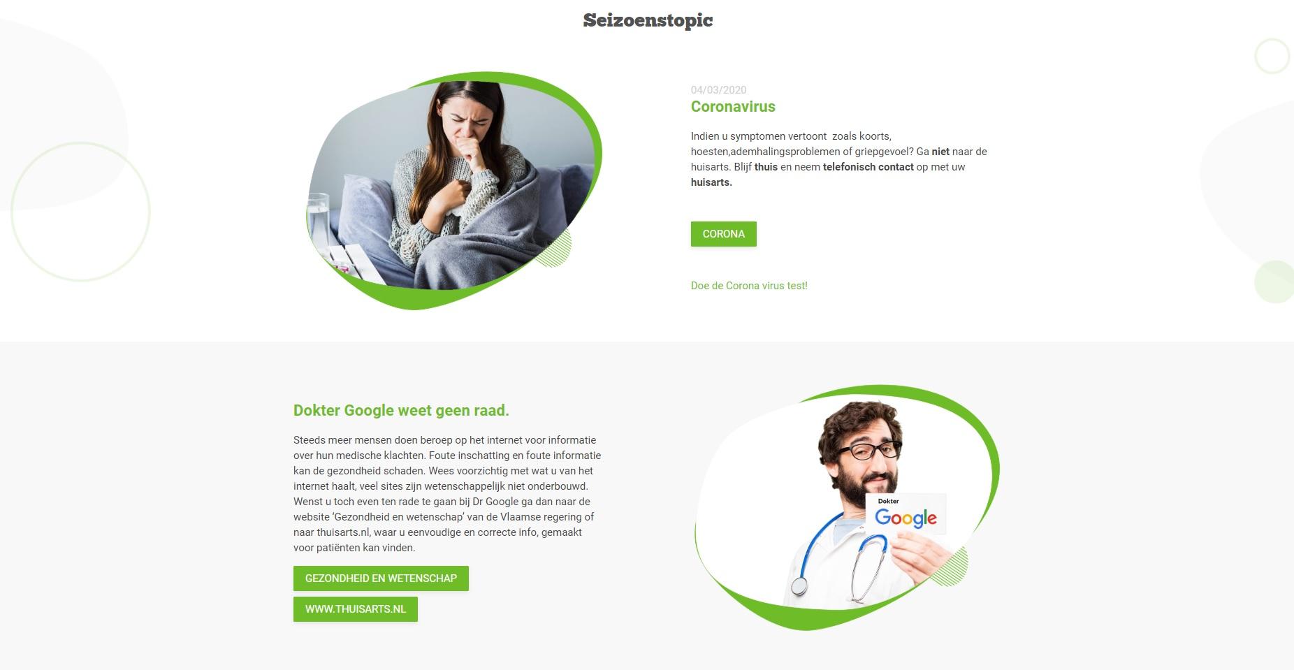 Huisartsen Antwerpen Zuid website