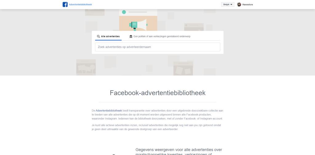 Advertentiebibliotheek-Facebook