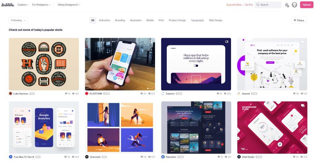 Inspiratie-voor-grafisch-ontwerpers-en-webdesigners-Dribbble-Motionmill-Antwerpen