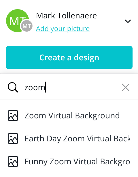 canva zoom achtergrond