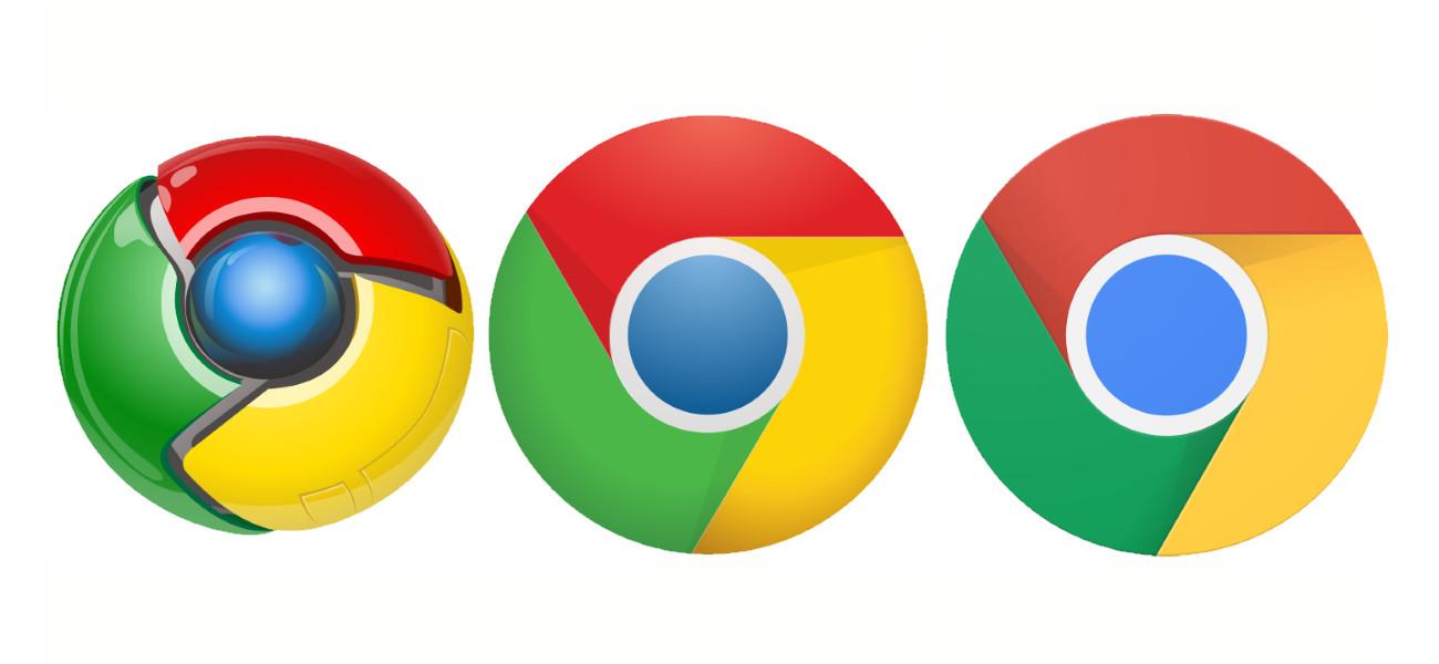 Evolutie van het logo van Google Chrome: van 3D naar 2D