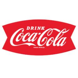 Logo van Coca Cola 1958-1968