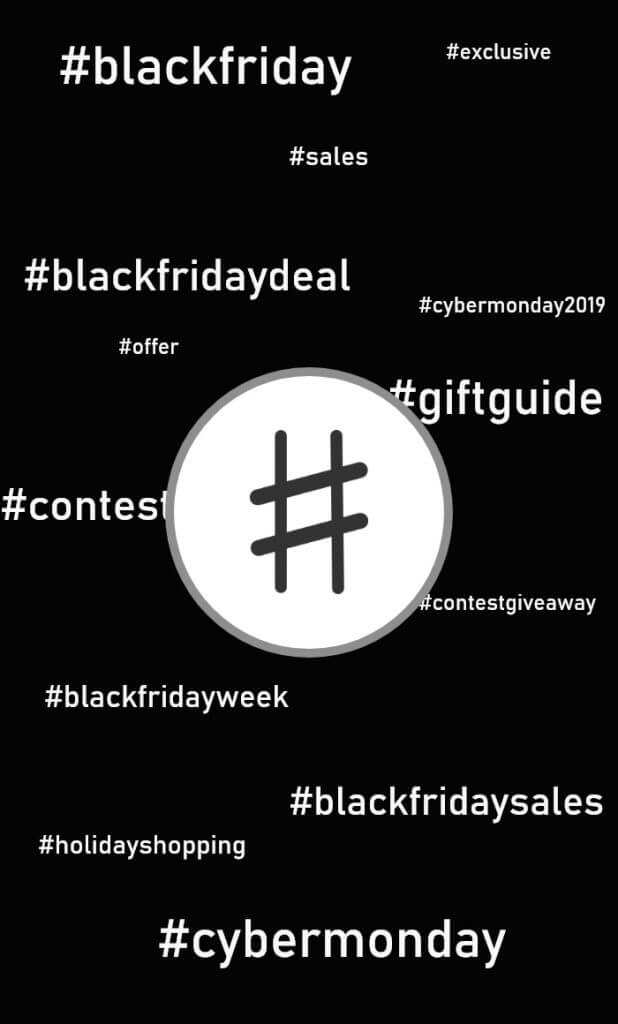 Black Friday en Cyber Monday hashtags