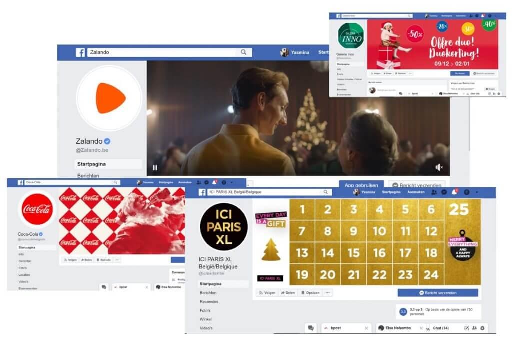 Facebook coverfoto's kerstthema