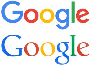 Oud en nieuw Google logo