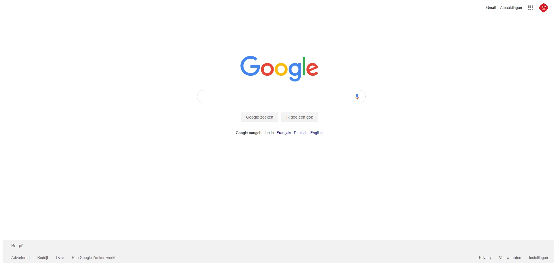 Website-ontwerp Google