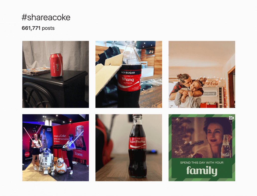 Hashtag Share a coke