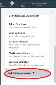 LinkedIn bedrijfspagina maken