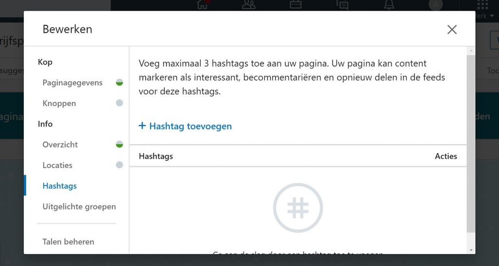 LinkedIn hashtags gebruiken