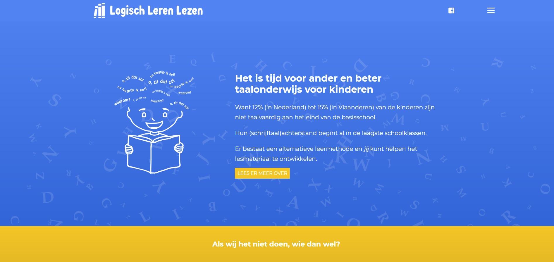 Website-ontwerp Logisch Leren Lezen