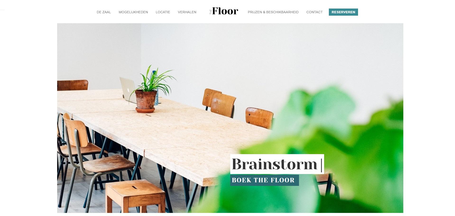 Webdesign voor zaal in Antwerpen