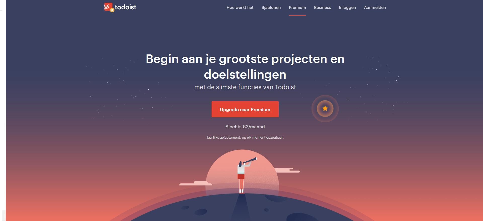 Webdesign Todoist