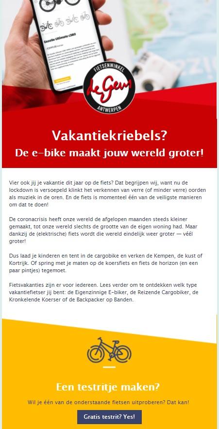 Nieuwsbrief laten maken door online marketingbureau Antwerpen
