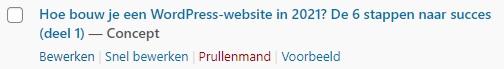WordPress-website Berichten bewerken